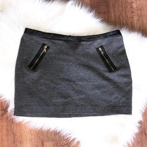 Dark Gray Mini Skirt